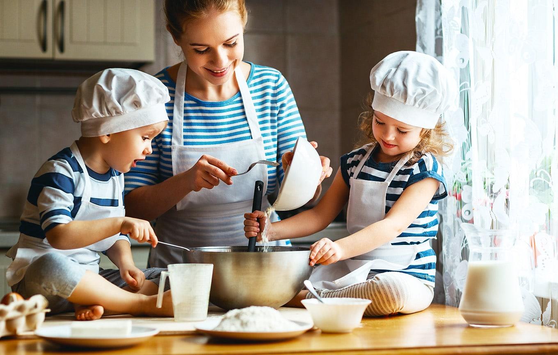 Veilig koken met kinderen